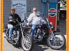 Barbra & Clovis Johnson 2005 Sportster & 2000 FXDWG