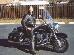 Barry Broom 2001 FLHR geezer glide 95