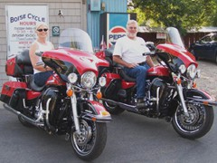 Penny & Tim Haney with their Twin 2010 FLHTKs